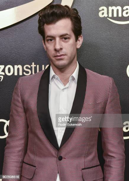 Musician Mark Ronson arrives at the Amazon Studios Golden Globes Celebration at The Beverly Hilton Hotel on January 7 2018 in Beverly Hills California