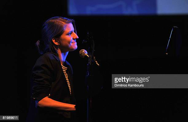 Musician Marketa Irglova of Swell Season performs onstage during Global Green USA's 5th Annual Pre Oscar Party raising awareness about smart climate...