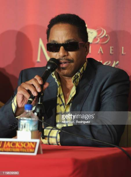 Musician Marlon Jackson attends a live press conference announcing Global Live Evennts' International Historical Trubute Concert honoring the late...
