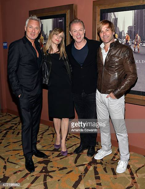 Musician Martin Kemp director George Hencken and musicians Gary Kemp and Steve Norman attend the premiere of Soul Boys Of The Western World Spandau...