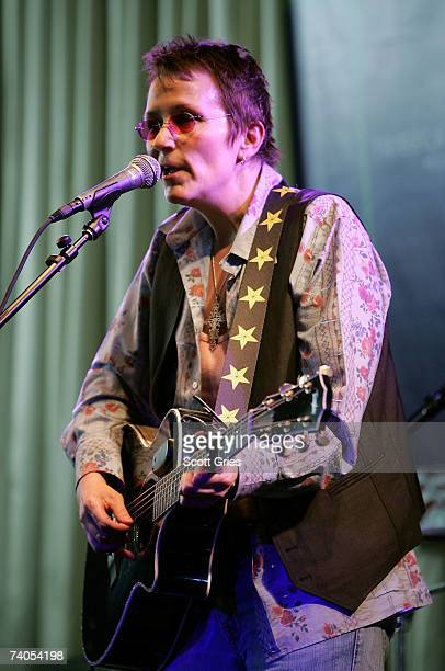Musician Mary Gauthier performs onstage at the ASCAP Tribeca Music Lounge held at the Canal Room during the 2007 Tribeca Film Festival on May 2 2007...