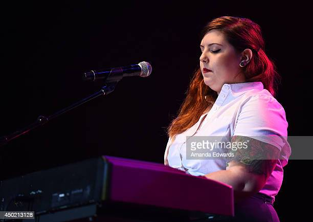 Musician Mary Lambert performs onstage on Day 1 of LA Pride on June 6 2014 in West Hollywood California