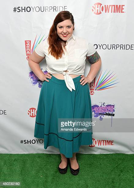 Musician Mary Lambert poses backstage on Day 1 of LA Pride 2014 on June 6 2014 in West Hollywood California