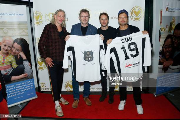 Musician Matisyahu, actor Liam Neeson, actor Taylor Kitsch and actor Sebastian Stan attend the MDC Productions' 3rd Annual Face Off to Fight Cancer...