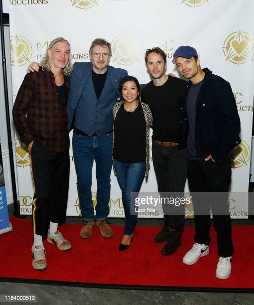 Musician Matisyahu, actor Liam Neeson, MDC Productions founder Meagan Celeste, actor Taylor Kitsch and actor Sebastian Stan attend the MDC...