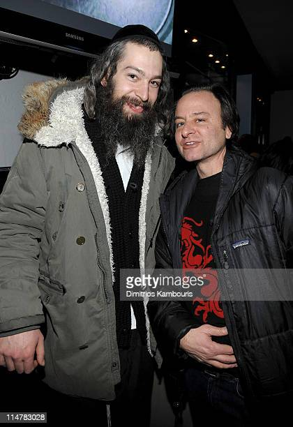 Musician Matisyahu and actor Fisher Stevens attend Rock Band Battles Hosted by Donovan Leitch with DJ Danny Masterson on January 17th 2009 in Park...