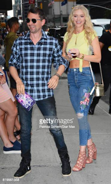 Musician Matt Bellamy and model Elle Evans are seen on July 20 2017 in New York City