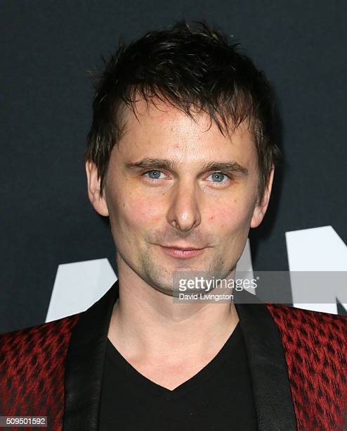 Musician Matt Bellamy attends Saint Laurent at Hollywood Palladium on February 10 2016 in Los Angeles California