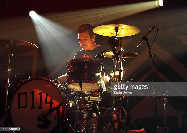 Musician Matt Helders of Arctic Monkeys performs onstage during The 24th Annual KROQ Almost Acoustic Christmas at The Shrine Auditorium on December 7...