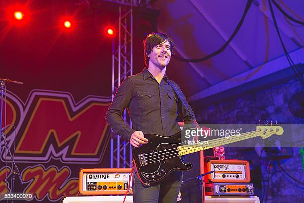 Musician Matt McJunkins of the band Eagles of Death Metal performs in concert at Stubb's BarBQ on May 21 2016 in Austin Texas