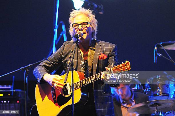 Musician Matt Sorum performs at the Avalon for Kings of Chaos Tokyo Celebrates The Dolphin Benefit Concert on November 18, 2013 in Hollywood,...