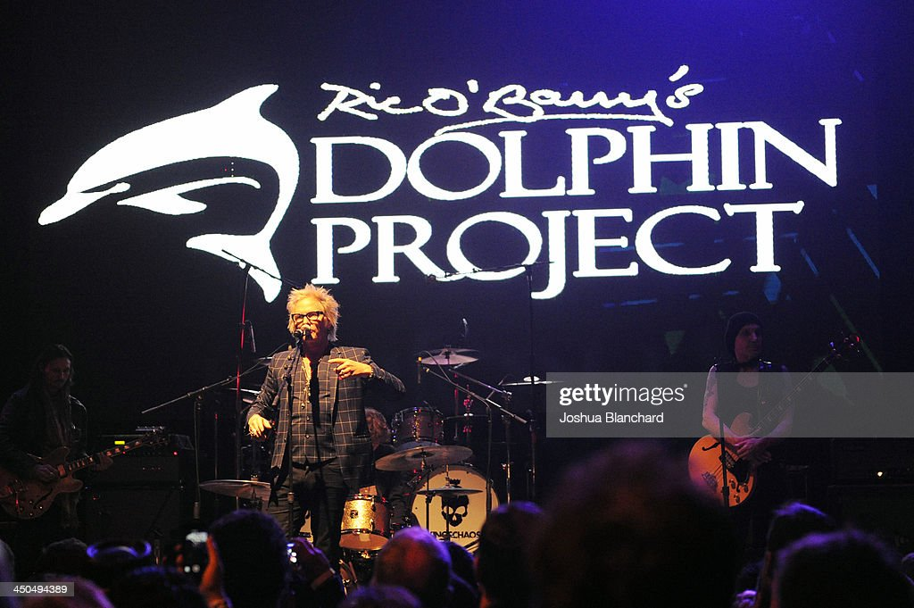 Musician Matt Sorum speaks at the Avalon for Kings of Chaos Tokyo Celebrates The Dolphin Benefit Concert on November 18, 2013 in Hollywood, California.