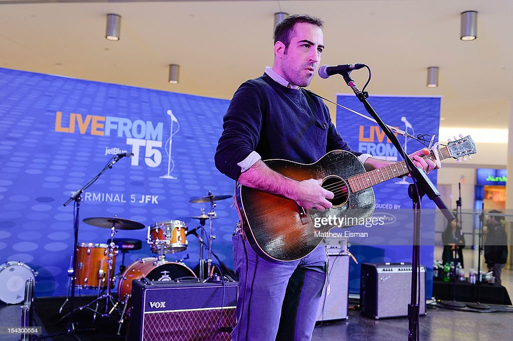Musician Matt Sucich performs for the CMJ Music Marathon at JetBlue's 'Live From T5 Concert Series' in John F. Kennedy International Airport on October 17, 2012 in New York City.