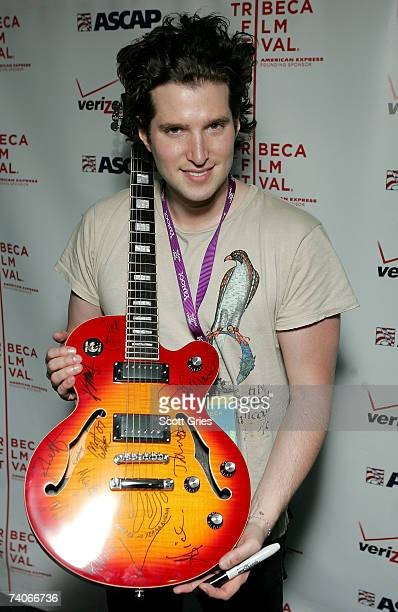 Musician Matt White poses at the ASCAP Tribeca Music Lounge held at the Canal Room during the 2007 Tribeca Film Festival on May 3 2007 in New York...