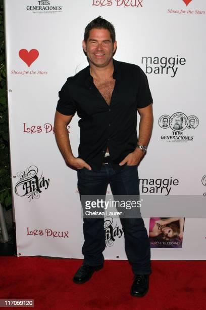 Musician Matt Zarley attends Lauren Hildebrandt's Not Really a Waitress CD Release Party at Les Deux on June 25 2009 in Hollywood California