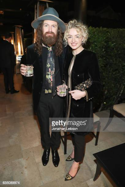 Musician Matthan Minster of Cage the Elephant and Catherine Moore attend the Sony Music Entertainment 2017 PostGrammy Reception at Hotel BelAir on...