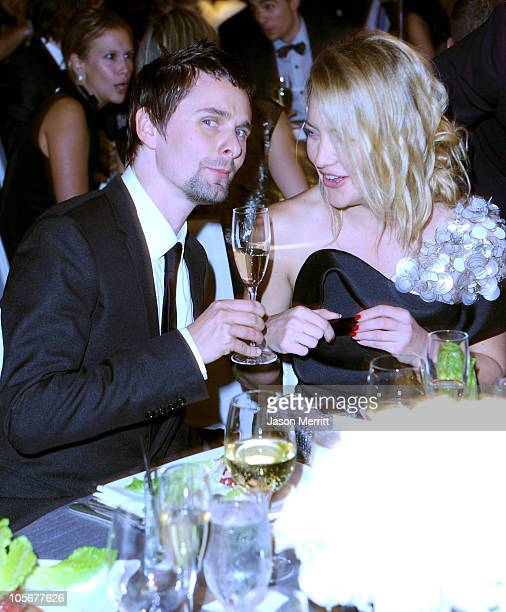 Musician Matthew Bellamy and actress Kate Hudson attend ELLE's 17th Annual Women in Hollywood Tribute at The Four Seasons Hotel on October 18 2010 in...