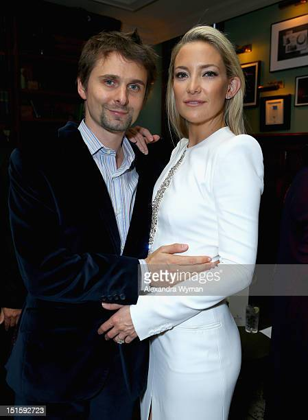 Musician Matthew Bellamy and actress Kate Hudson attend 'The Reluctant Fundamentalist' Soho House Grey Goose Vodka pregala screening party on...