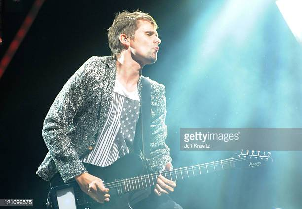 Musician Matthew Bellamy of Muse performs at the Lands End Stage during the 2011 Outside Lands Music and Arts Festival held at Golden Gate Park on...