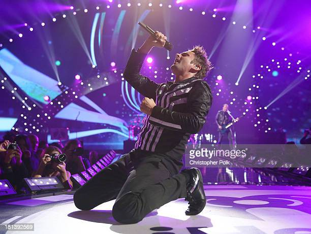 Musician Matthew Bellamy of the band Muse performs onstage during the iHeartRadio Music Festival at the MGM Grand Garden Arena on September 20 2013...