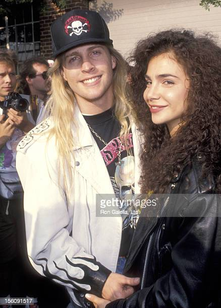 Musician Matthew Nelson and Actress Yvette Shilo Stevens attend the Love Ride 9 Ninth Annual Motocycle Rider's Fundraiser for the Muscular Dystrophy...
