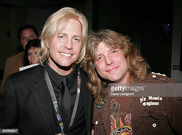 Musician Matthew Nelson and drummer and former member of Guns N' Roses Steven Adler attend the 2009 Pollstar Awards at the Nokia Theatre on January...