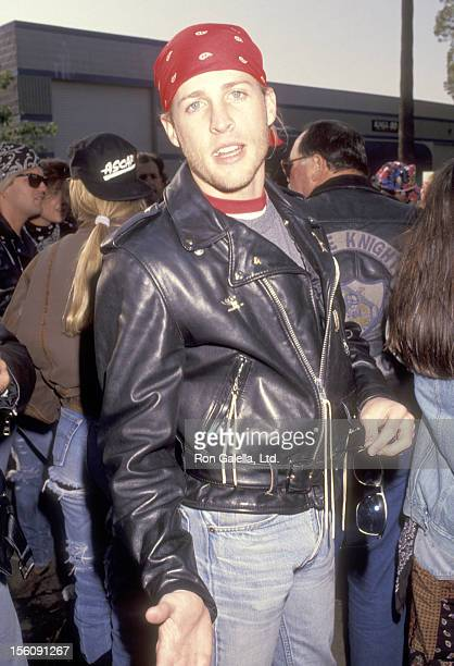 Musician Matthew Nelson attends theLove Ride 8 Eighth Annual Motocycle Rider's Fundraiser for the Muscular Dystrophy Association on November 3 1991...
