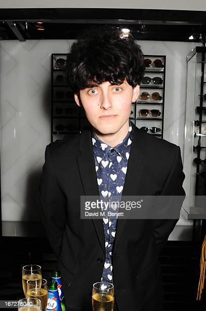 Musician Matthew Whitehouse of The Heartbreakers attends Burberry Live at 121 Regent Street at Burberry on April 23 2013 in London England