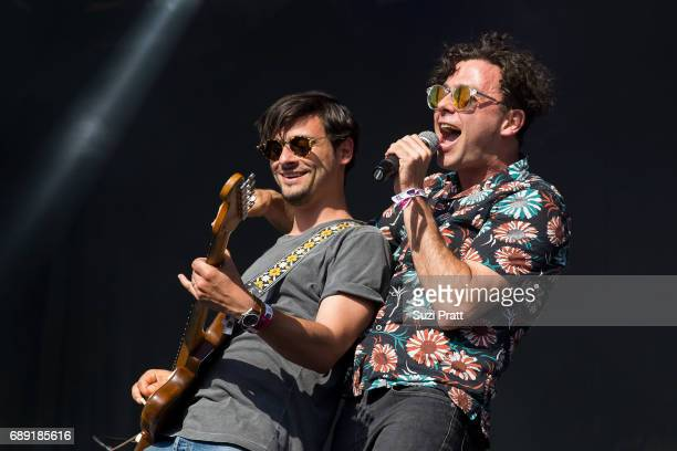 Musician Max Kerman of The Arkells performs at the Sasquatch Music Festival at Gorge Amphitheatre on May 27 2017 in George Washington