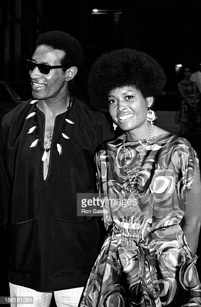Musician Max Roach and actress/singer Abbey Lincoln attend the premiere of 'For Love Of Ivy' on July 16 1968 at Loew's Tower East Theater in New York...