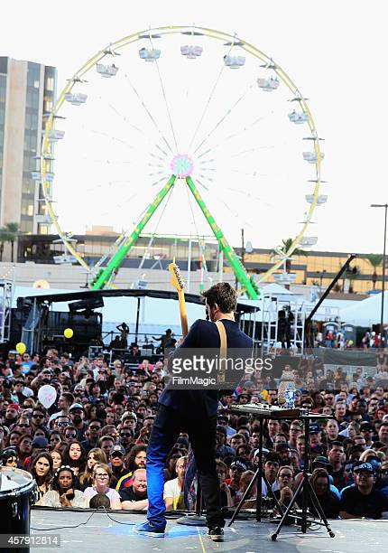 Musician Mayer Hawthorne performs onstage during day 3 of the 2014 Life is Beautiful festival on October 26 2014 in Las Vegas Nevada