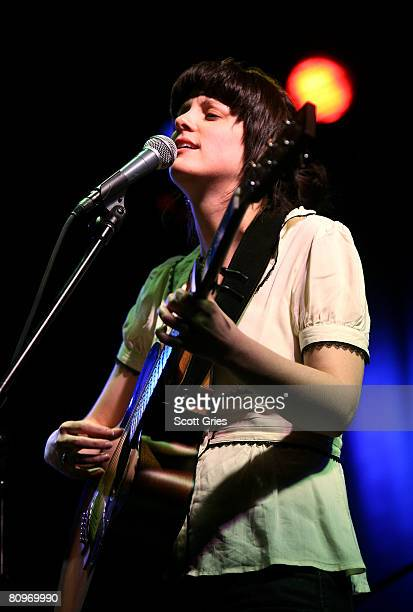Musician Meaghan Smith performs at the Tribeca ASCAP Music Lounge held at the Canal Room during the 2008 Tribeca Film Festival on May 2, 2008 in New...