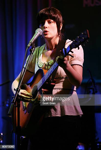 Musician Meaghan Smith performs at the Tribeca ASCAP Music Lounge held at the Canal Room during the 2008 Tribeca Film Festival on May 2 2008 in New...