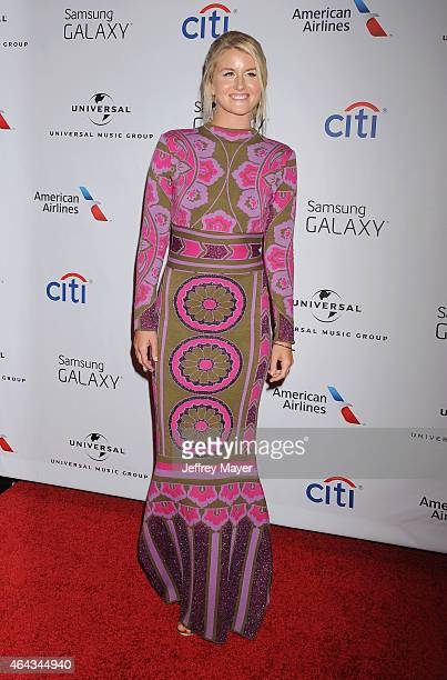 Musician Megan McAllister attends the Universal Music Group 2015 Post GRAMMY Party at The Theatre Ace Hotel Downtown LA on February 8 2015 in Los...