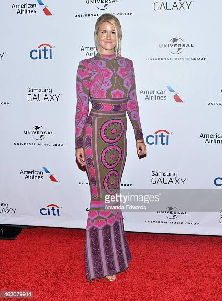 Musician Megan McAllister of the band Fairground Saints arrives at the Universal Music Group Post Grammy Party presented by American Airlines and...