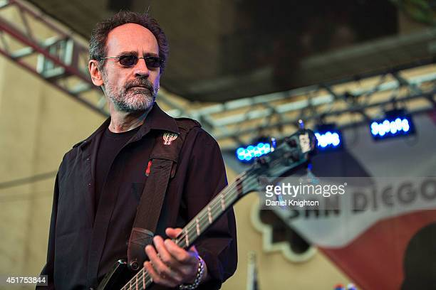 Musician Mel Schacher of Grand Funk Railroad performs on stage at the San Diego County Fair on July 5 2014 in Del Mar California