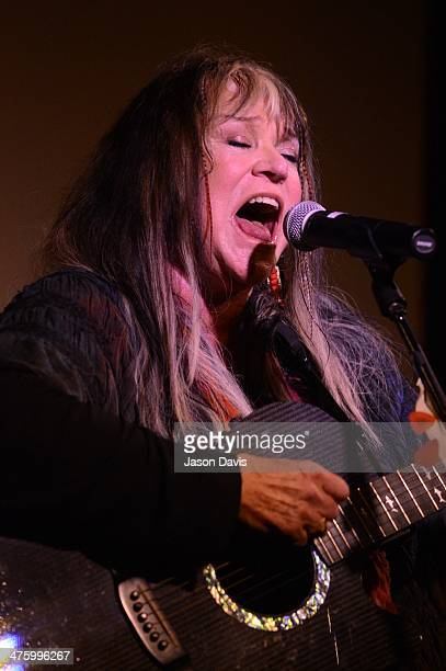 Musician Melanie attends the Johnny Cash Birthday Celebration 2014 at The Johnny Cash Museum on March 1 2014 in Nashville Tennessee
