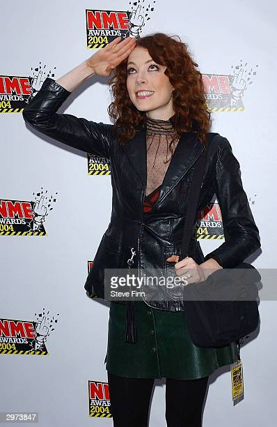 Musician Melissa Alf De Maur arrives at the NME Awards 2004 at The Hammersmith Palais on February 12 2004 in London The winners at the annual awards...