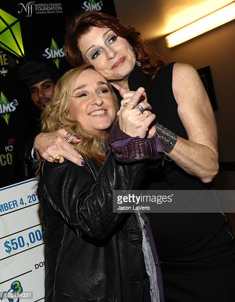 Musician Melissa Etheridge and Founder of the Noreen Fraser Foundation Noreen Fraser attend the VIP Lounge at Variety's Power of Comedy presented by...