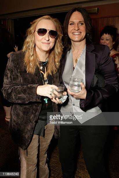 Musician Melissa Etheridge and Linda Wallem attend the 22nd Annual GLAAD Media Awards presented by ROKK Vodka at Los Angeles' Westin Bonaventure on...