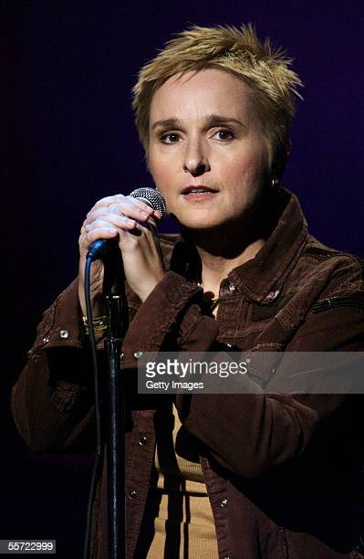 """Musician Melissa Etheridge performs at the """"ReAct Now: Music & Relief"""" benefit concert at Paramount Studios on September 9, 2005 in Hollywood,..."""
