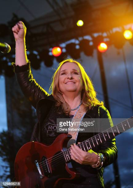 Musician Melissa Etheridge performs at The Tulalip Amphitheatre on August 18 2013 in Marysville Washington