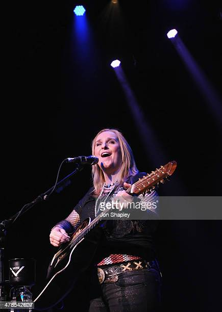 Musician Melissa Etheridge performs onstage at Sunset Sessions during the 2014 SXSW Music Film Interactive Festival at the Paramount on March 13 2014...