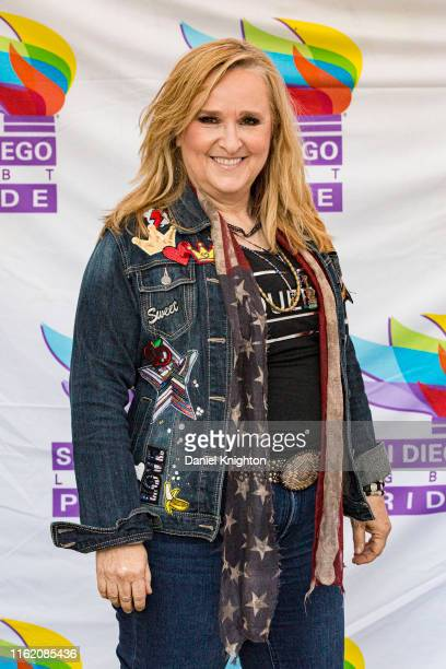 Musician Melissa Etheridge poses for photos backstage at San Diego Pride Festival 2019 on July 14 2019 in San Diego California