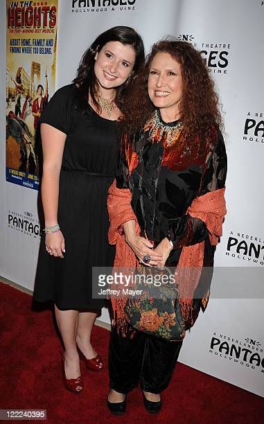 Musician Melissa Manchester and daughter Hannah arrive at Broadway LA Presents In The Heights Opening Night at the Pantages Theatre on June 23 2010...