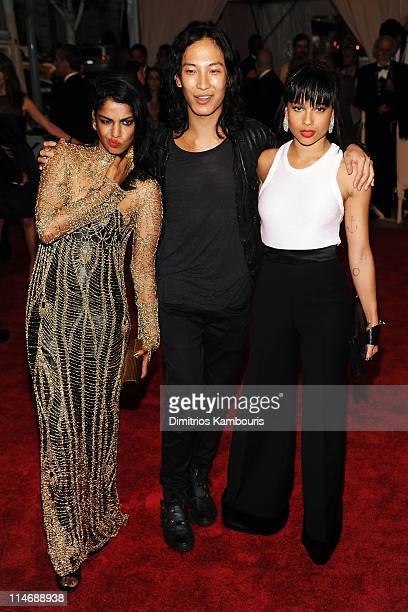 Musician MIA designer Alexander Wang and actress Zoe Kravitz attend the Costume Institute Gala Benefit to celebrate the opening of the 'American...