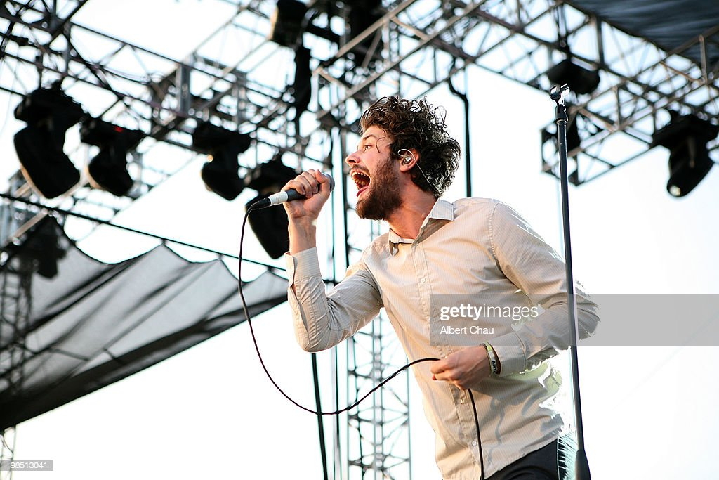 Musician Michael Angelakos of Passion Pit performs during day 1 of the Coachella Valley Music & Arts Festival 2010 held at The Empire Polo Club on April 16, 2010 in Indio, California.