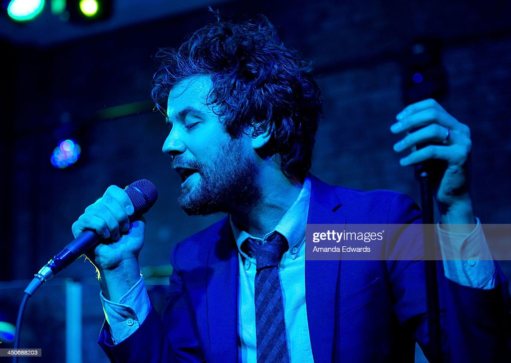 Musician Michael Angelakos of the band Passion Pit performs onstage at the MINI Cooper red carpet premiere on November 19, 2013 in Los Angeles, California.
