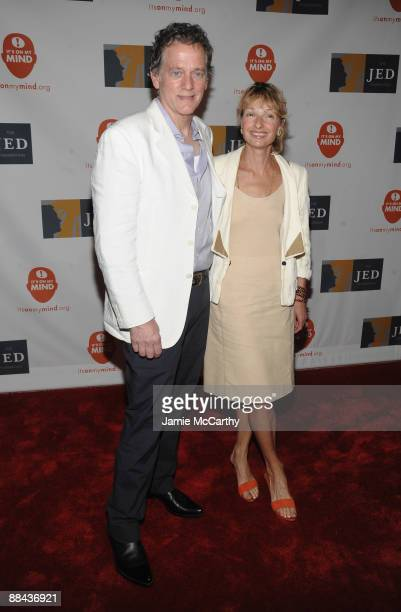 Musician Michael Bacon and guest attend the 8th Annual Jed Foundation Gala at Guastavino's on June 11 2009 in New York City