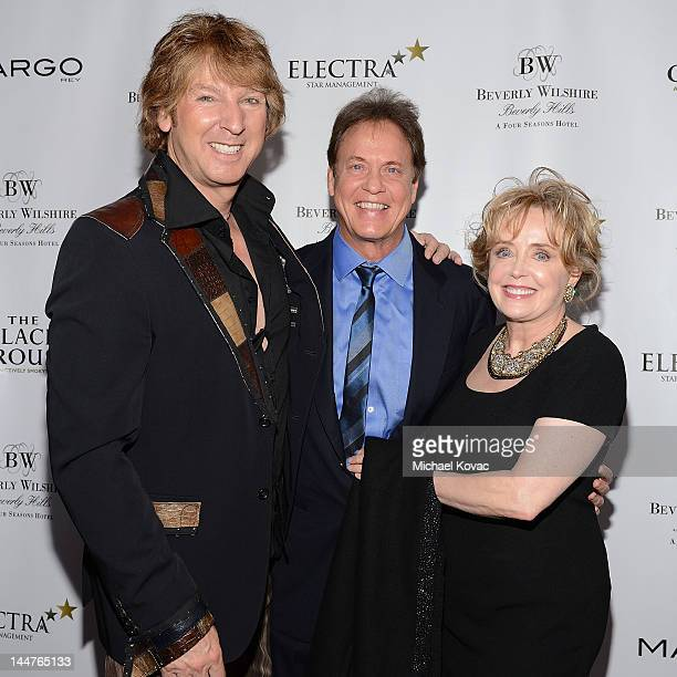 Musician Michael Blakey radio personality Rick Dees and Julie Dees arrive at the Beverly Wilshire After Dark Concert Series Featuring Margo Rey at...